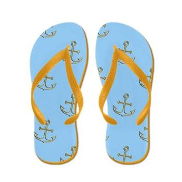 Golden Anchors, Blue Sea Flip Flops> Golden Anchors, Blue Sea> Accessorize Me