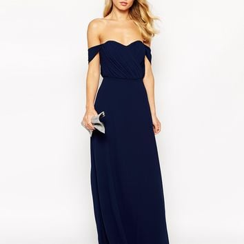 Jarlo Tall Florence Off Shoulder Maxi Dress at asos.com