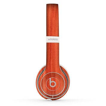 The Bright Red Stained Wood Skin Set for the Beats by Dre Solo 2 Wireless Headphones
