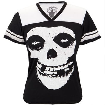 Misfits - Skull Juniors Football T-Shirt