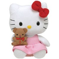 Ty Beanie Baby Hello KitTy with Bear