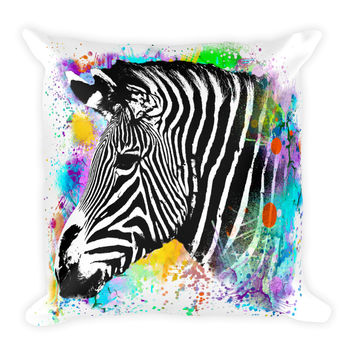 Zebra Decorative Throw Pillow 18x18
