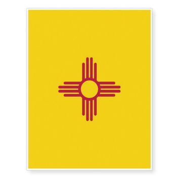 Patriotic temporary tattoos Flag of New Mexico