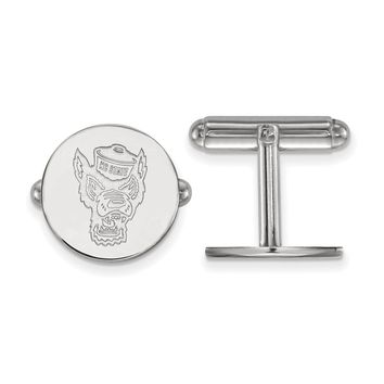 NCAA Sterling Silver North Carolina State University Cuff Links