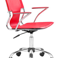 ZUOmod Trafico Office Chair - Black, White, Espresso and Red.