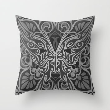 Flame Butterfly Throw Pillow by Likelikes