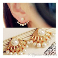 Gold Pearl Stud Fashion Earrings