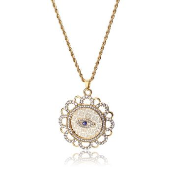 Evil Eye new fashion 53*53mm  trendy Evil Eye Necklaces