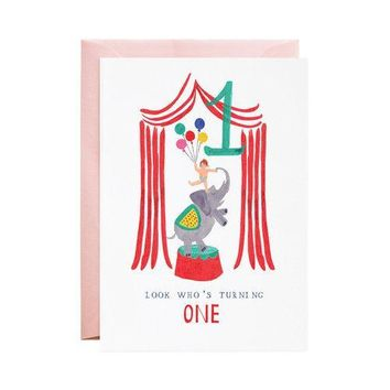 One Ellie Elephant Card