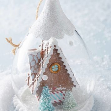Gingerbread Snow Globe Ornament
