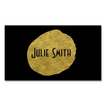 Clasic Gold on Black Double-Sided Standard Business Cards (Pack Of 100)
