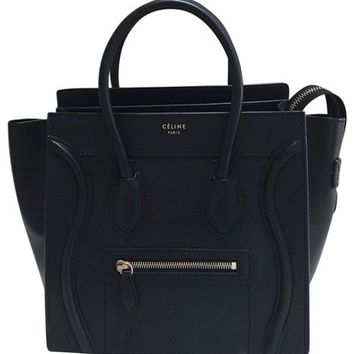 Céline Micro Luggage Black Tote Bag 15% off retail