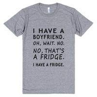 Boyfriend Fridge Grey-JH-Unisex Athletic Grey T-Shirt