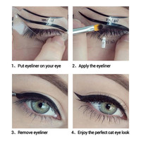 10Pcs/Set Cat Eye Fish Tail Double Wing Eyeliner Stencil Eyeliner Stencil Models Template Shaper Makeup Eye Tools