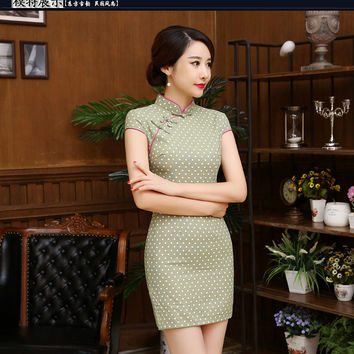 2016 Hot style promotion flax national  restoring dress cultivate cheongsam dress fashion qipao dress linen robe cloth