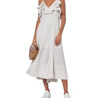 Sabbia Ruffle Midi Dress