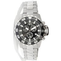Invicta 13624 Men's Specialty Pro Diver Black Dial Stainless Steel Chronograph Watch
