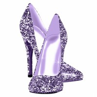 Elegant Purple Glitter High Heel Shoes