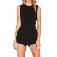 Finders Keepers Built On Romper in Black