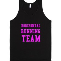 Horizontal Running Team-Unisex Black Tank