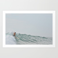 morning surf Art Print by RichCaspian