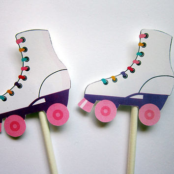 Roller Skate Party Favor, Goody, Gift Bags - Roller Skating Birthday - Roller Skate Birthday