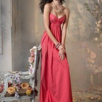(FITS020687 )2012 Spring Style Sheath / Column Sweetheart  Ruffles  Sleeveless Floor-length Taffeta Red Prom Dress / Evening Dress