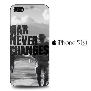 Fallout War Never Changes Quotes iPhone 5[S] Case