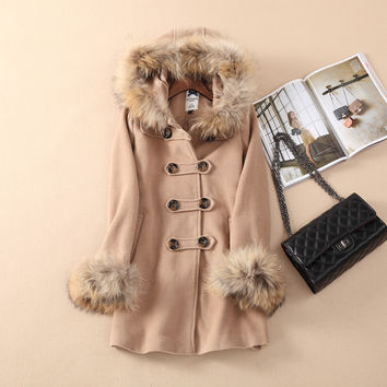 Wool Coat Winter Korean Hats Jacket [9344408516]