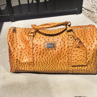 Two Riche Edition Ostrich Duffle Bag