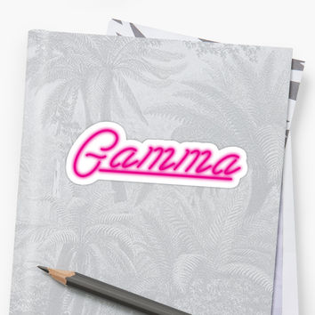 'Gamma Neon Sign' Sticker by Maddy Pease
