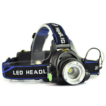 ! Rechargeable 2000LM XM-L T6 LED Zoomable Headlamp Headlight 18650 Bike Bicycle Flashlight Head Light Outdoor Camping