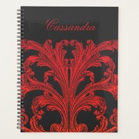 Vintage Romantic Goth in Blood Red Planner