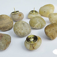 River Rock Push Pins - Set of 12