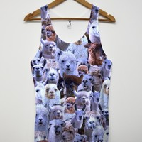 Llama all over print vest