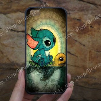 Lilo and Stitch iphone case,Stitch and Turtle phone case,galaxy S5 case,iPhone 5C 5/5S 4/4S,samsung galaxy S3/S4/S5,Personalized Phone case