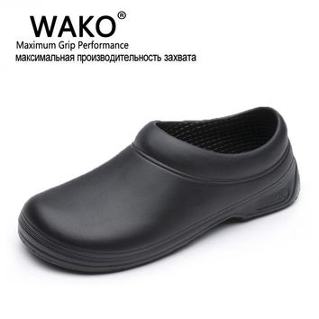 WAKO Hot Sale Men Women Chef Kitchen Working Shoes Casual Flat Work Shoe For Unisex Co