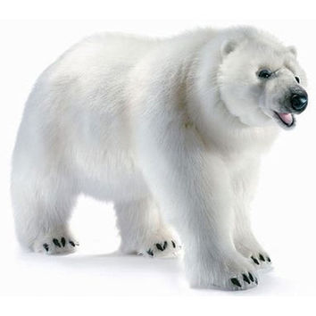 Hansa Life Size Walking Polar Bear Stuffed Animal