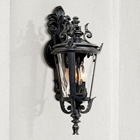 Casa Marseille Black Outdoor Wall Light - #49303 | Lamps Plus