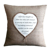 Personalised Love Quote Cushion