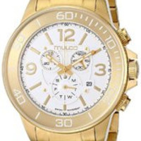 MULCO Unisex MW4-90147-321 Analog Display Swiss Quartz Gold Watch