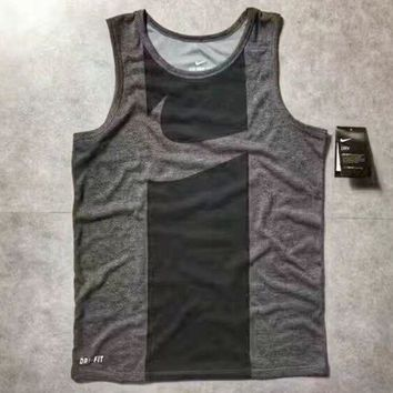DCCKN6V NIKE Dry Fashion Print Casual Sleeveless Vest Shirt Top Tee Blouse G-A-XYCL