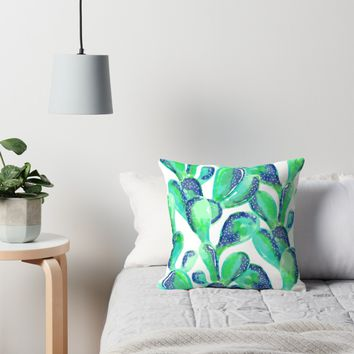 'Cactus Life #redbubble #decor #buyart' Throw Pillow by 83oranges