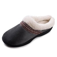 Beverly Rock Womens Native American Embroidered Fleece Lined Clog Slippers