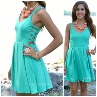 Candlewood Dock Emerald Crepe Tank Dress