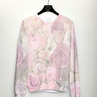 PRE ORDER Womens Sweater, Rose Jumper, Spring Fashion, Womens Top, Tumblr Trend Fashion Hipster Sweater, Pre Order Only