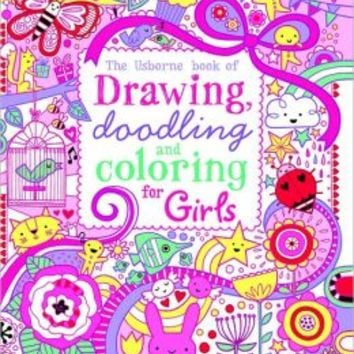 Drawing, Doodling and Coloring Book Girls