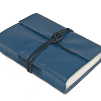 Navy Blue Leather Journal - Ready to ship -