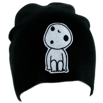 Kodama Tree Spirit Beanie Knit Cap Alternative Clothing Princess Mononoke Anime
