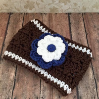 Crochet Football Ear Warmer Headband
